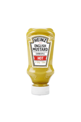 Heinz English Mustard Hot 220ml Top Down image