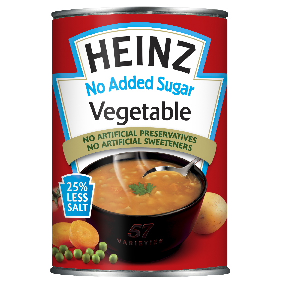Heinz No Added Sugar Vegetable Soup 400gm Small Can image
