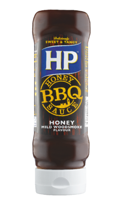 HP Honey Woodsmoke BBQ 465gm Top Down image