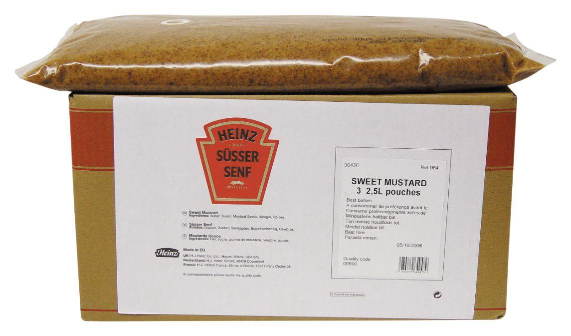 Heinz Suesser Senf Spenderbeutel 2500ml image