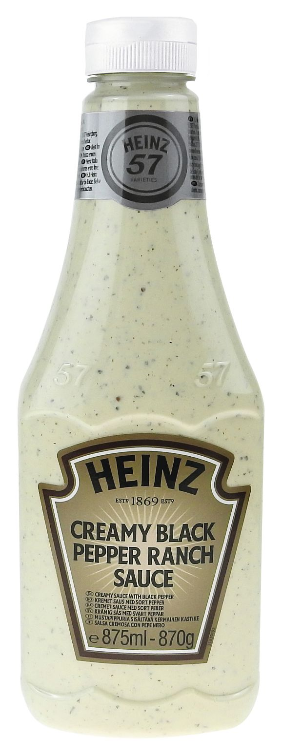 Heinz Creamy Black Pepper Ranch Sauce 875ml image