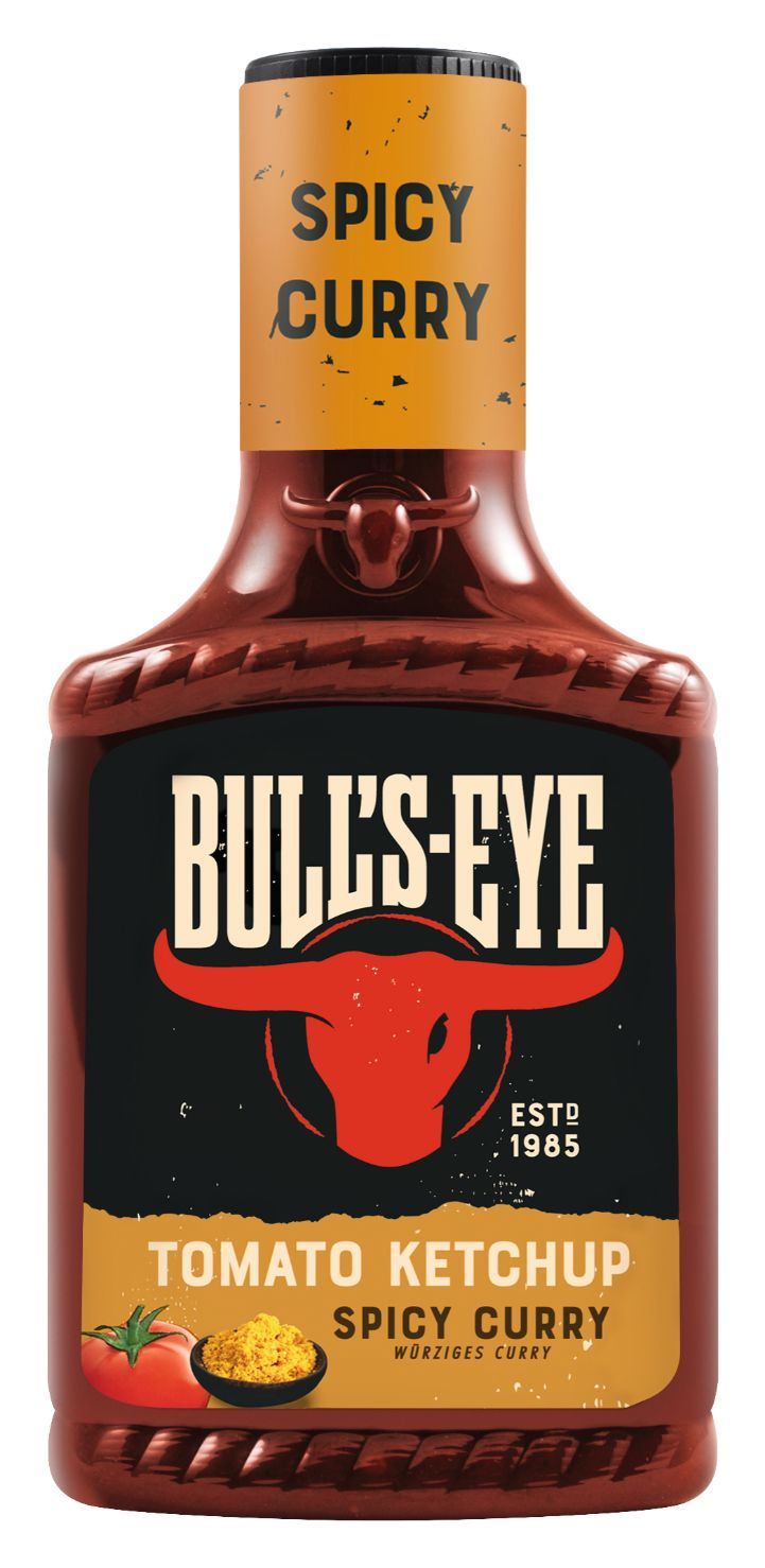 Bull's Eye Tomaten Ketchup Spicy Curry, würziges Curry 425ml image