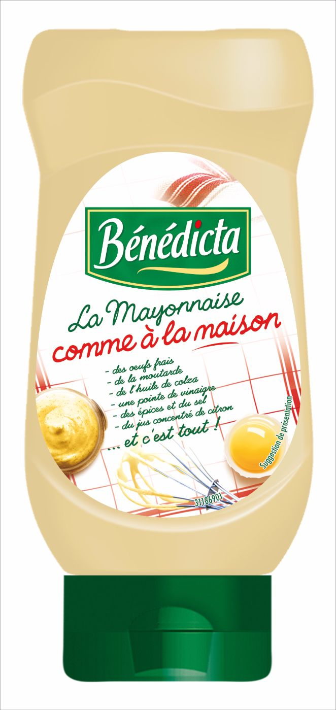 Bénédicta Mayonnaise Comme à la maison 400ml Flacon Souple image