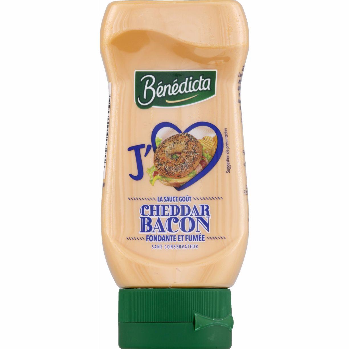 Bénédicta Sauce Cheddar bacon flacon 400ml Flacon Souple image