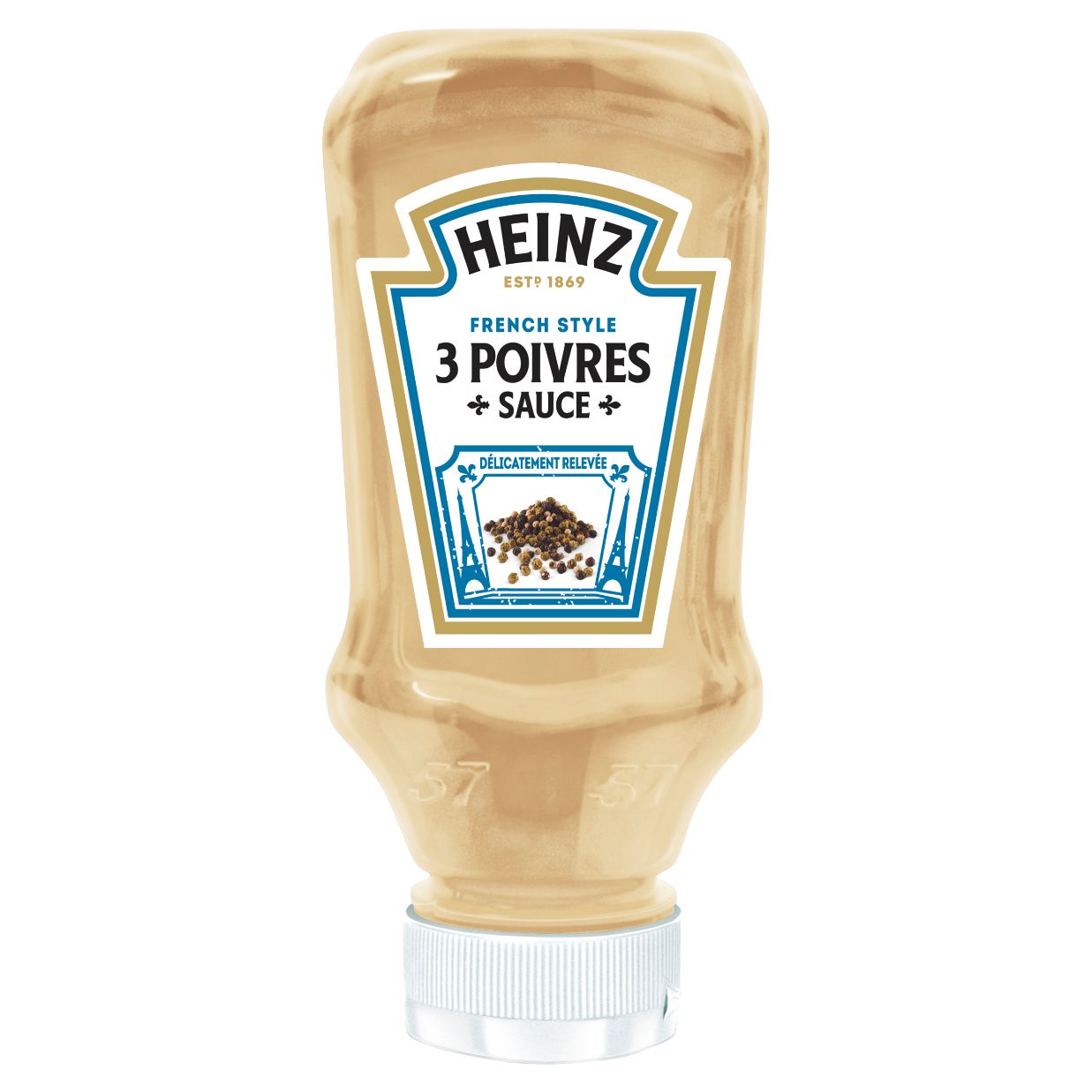Heinz Sauce poivres 220ml Flacon Souple Top Down image