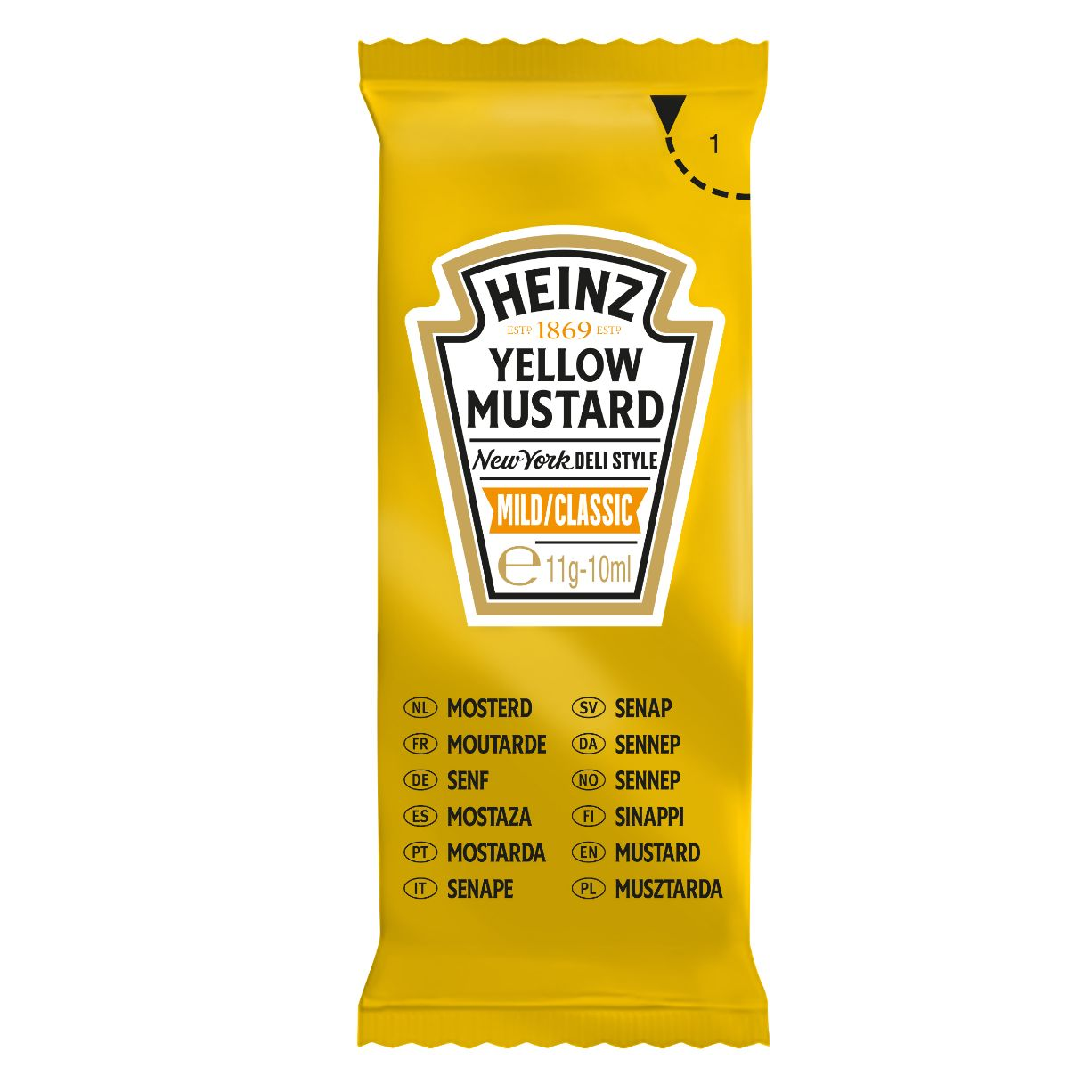 Heinz Yellow mustard 10ml Sachet image