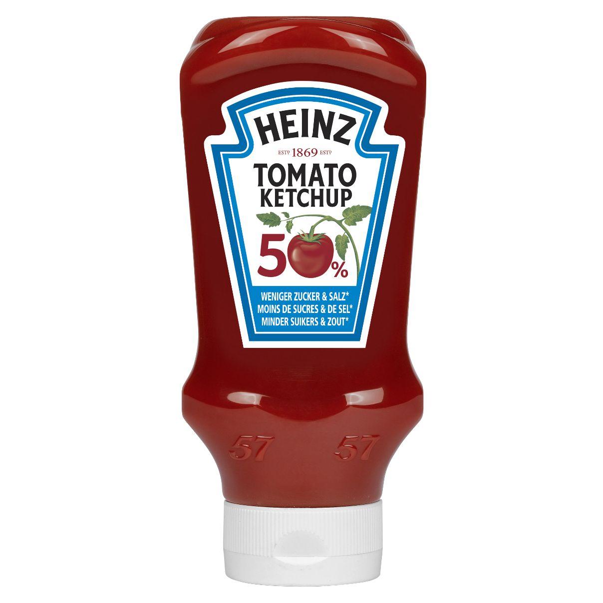 Heinz Tomato ketchup 50% de sucre et 50% de sel en moins 605ml image