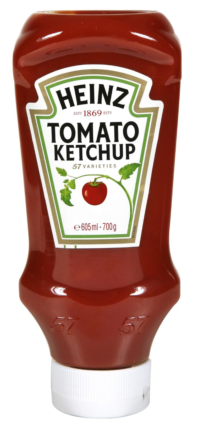 Heinz Tomato Ketchup 605ml Flacon Souple Top Down image