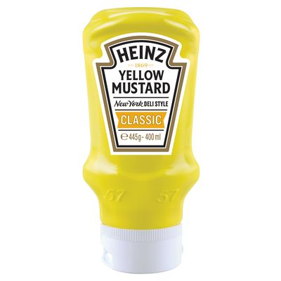 Heinz Yellow Mustard Classic 400ml Flacon Souple Top Down image