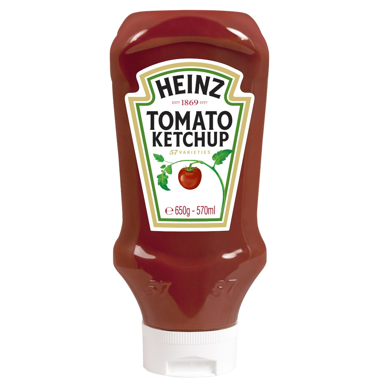 Heinz Tomato Ketchup 570ml Flacon Souple Top Down image