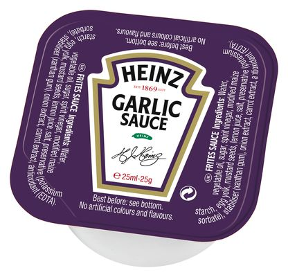 Heinz Sauce Garlic 25g Coupelle image