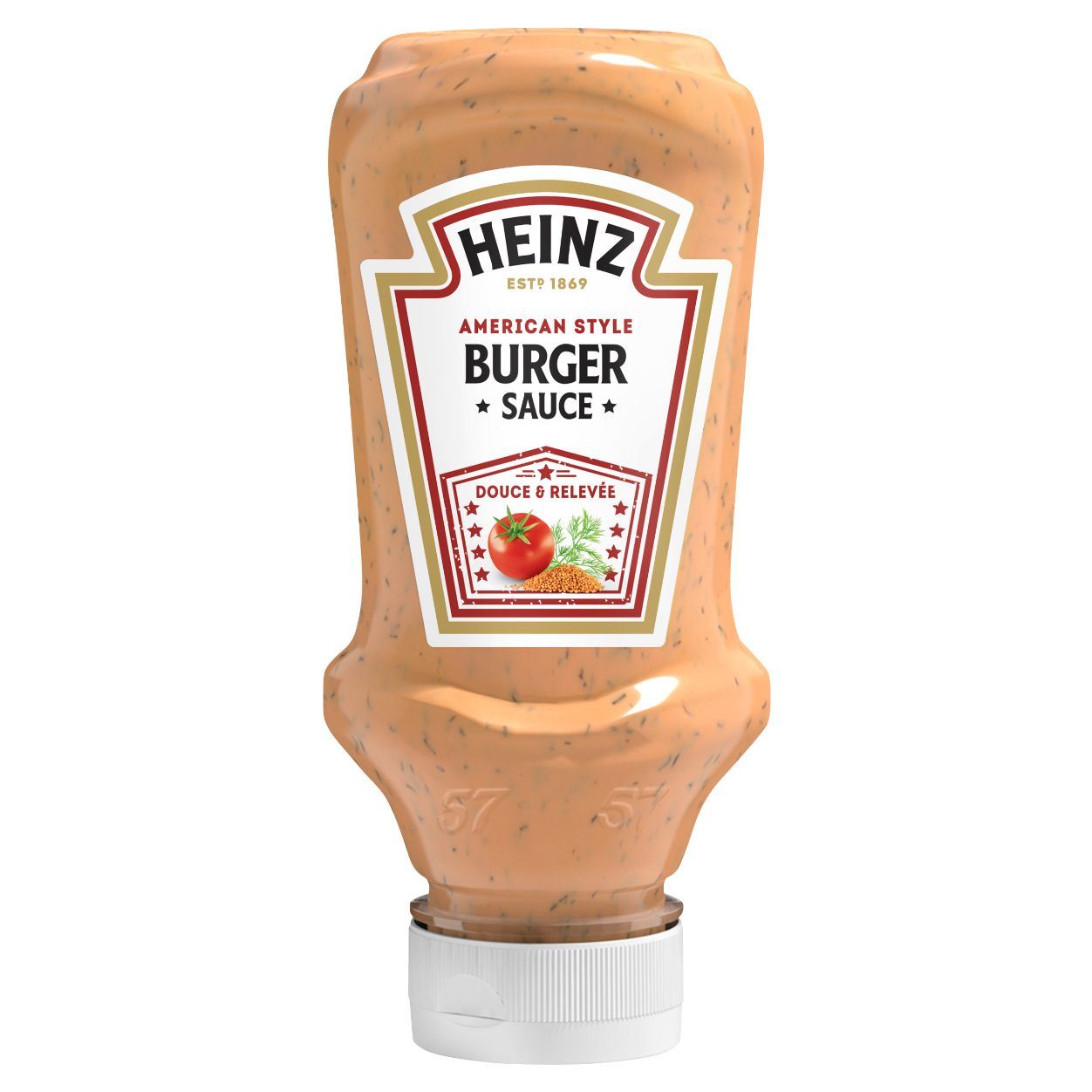Heinz Sauce American burger 220ml Flacon Souple Top Down image