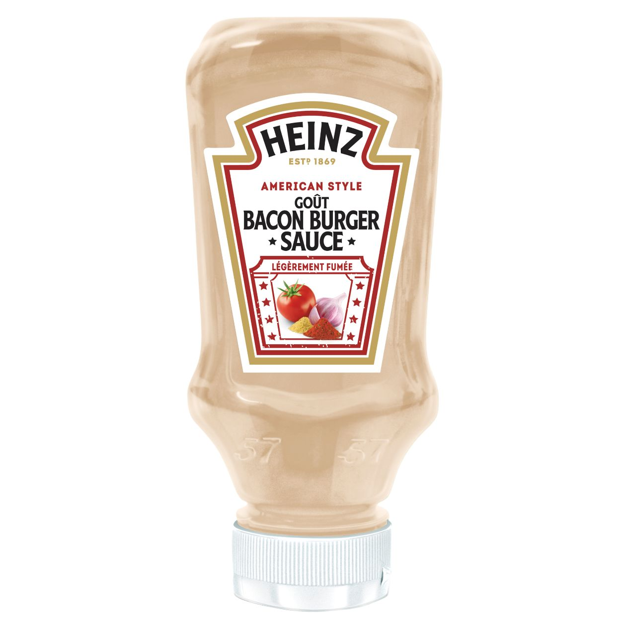 Heinz Sauce Bacon Burger 220ml Flacon Souple Top Down image