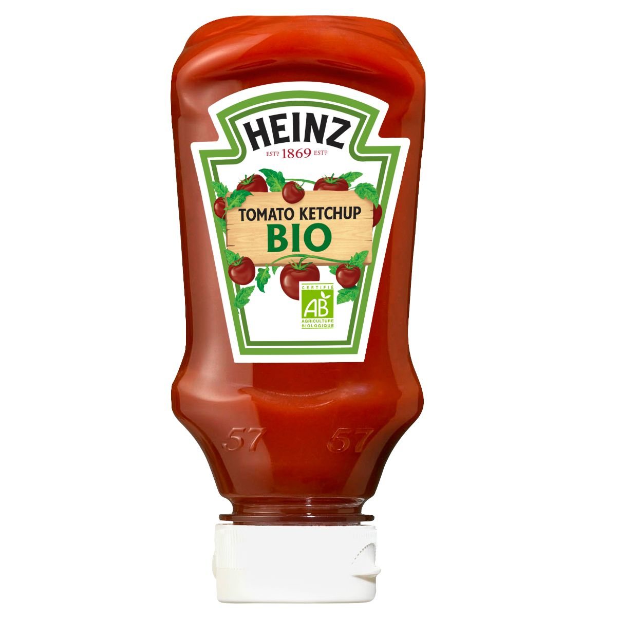 Heinz Tomato Ketchup BIO 220ml Flacon Souple top down image