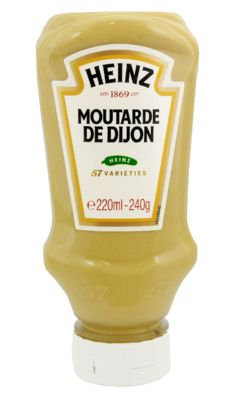 Heinz Moutarde de Dijon 220ml Flacon Souple Top Down image