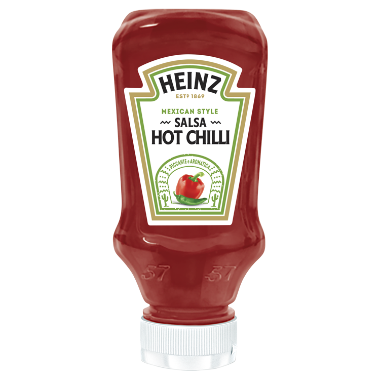 Heinz Salsa Hot Chilli 245g Top Down image