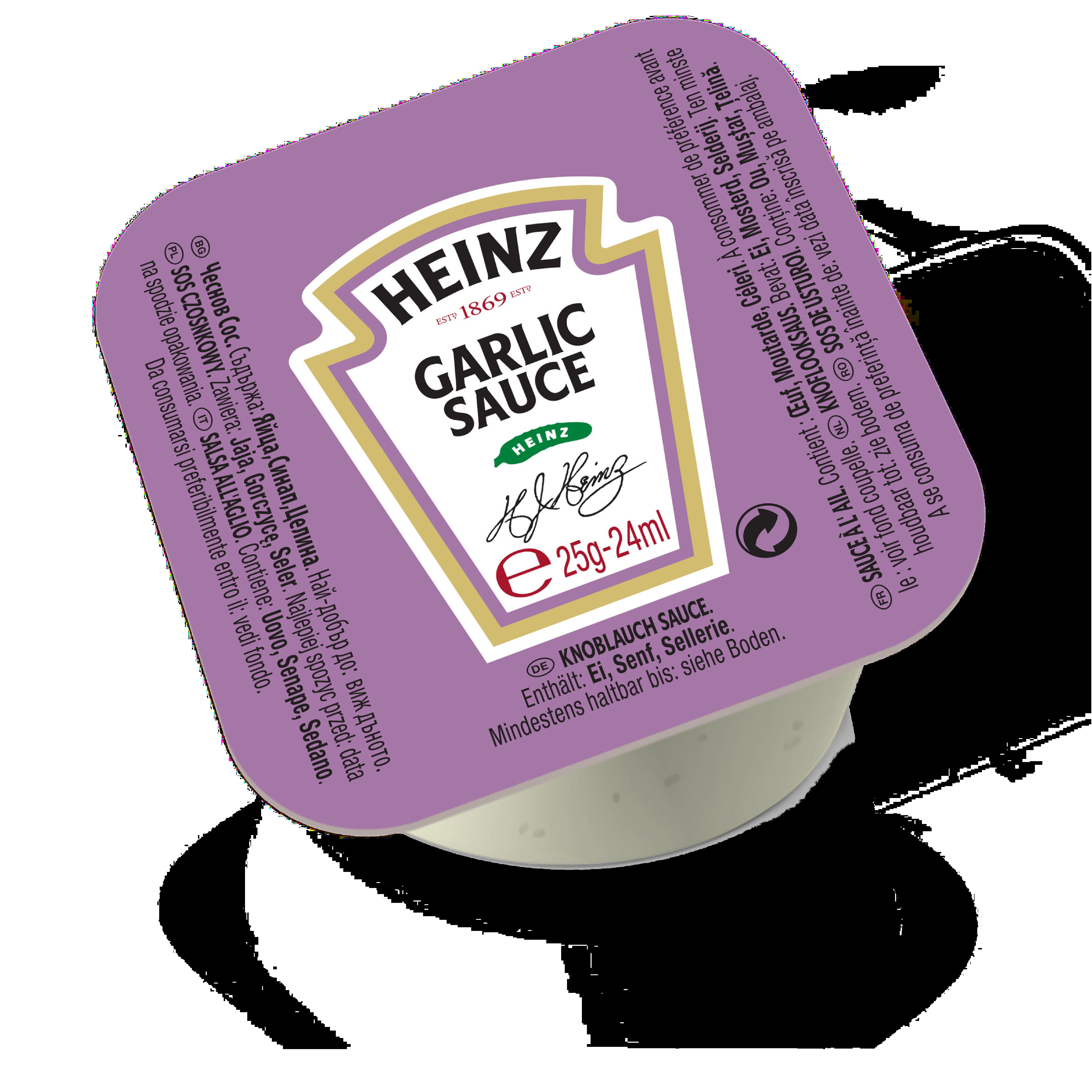 Heinz Garlic Sauce 25g Dip Pot image