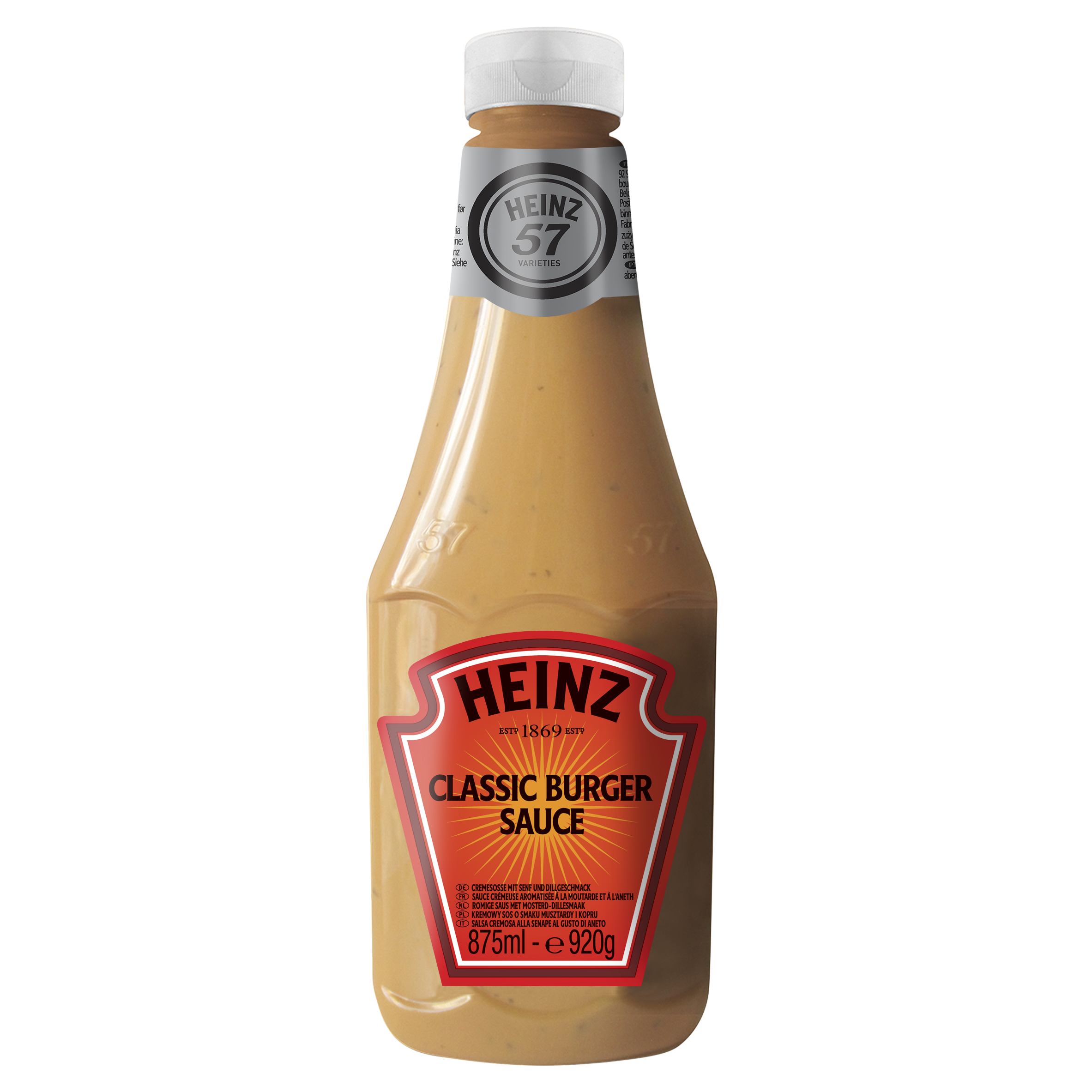 Heinz Burger Sauce 875ml Up Right image