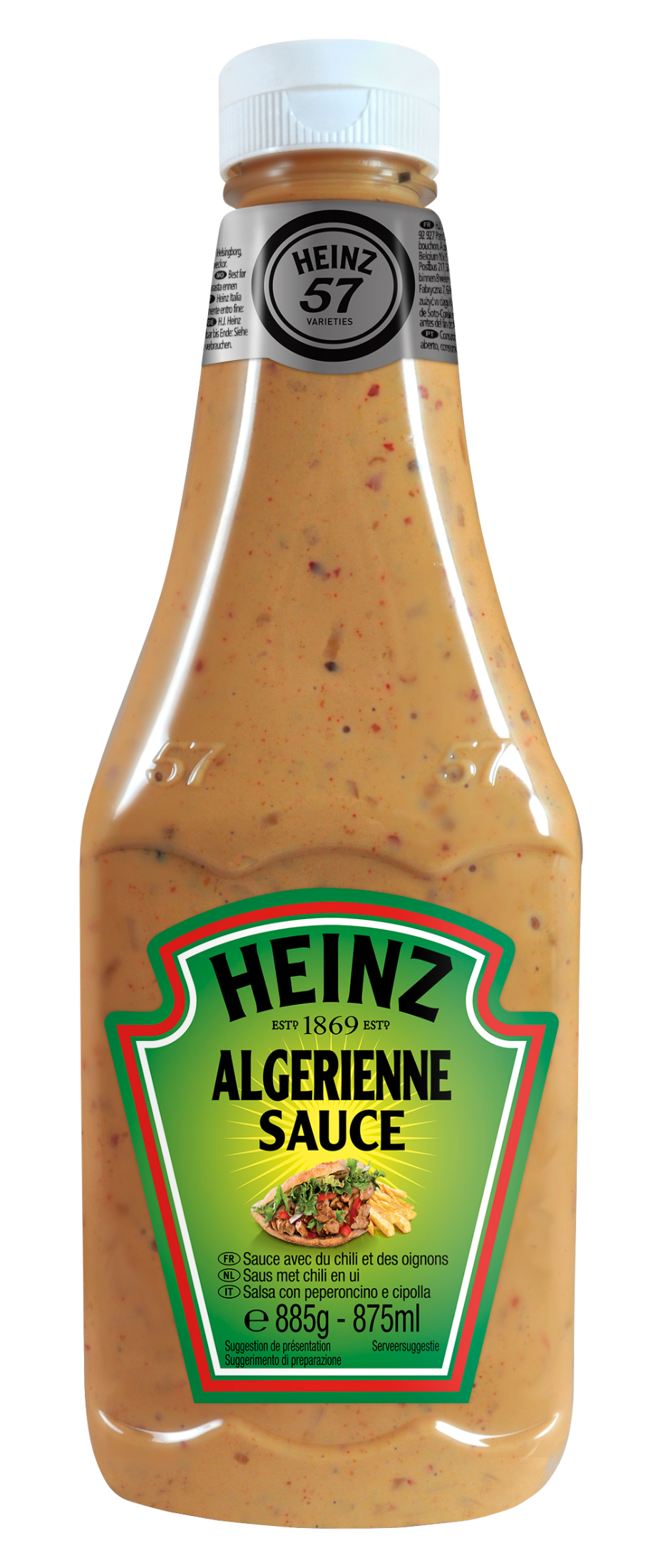 Heinz Algerienne Sauce 875ml Up Right image