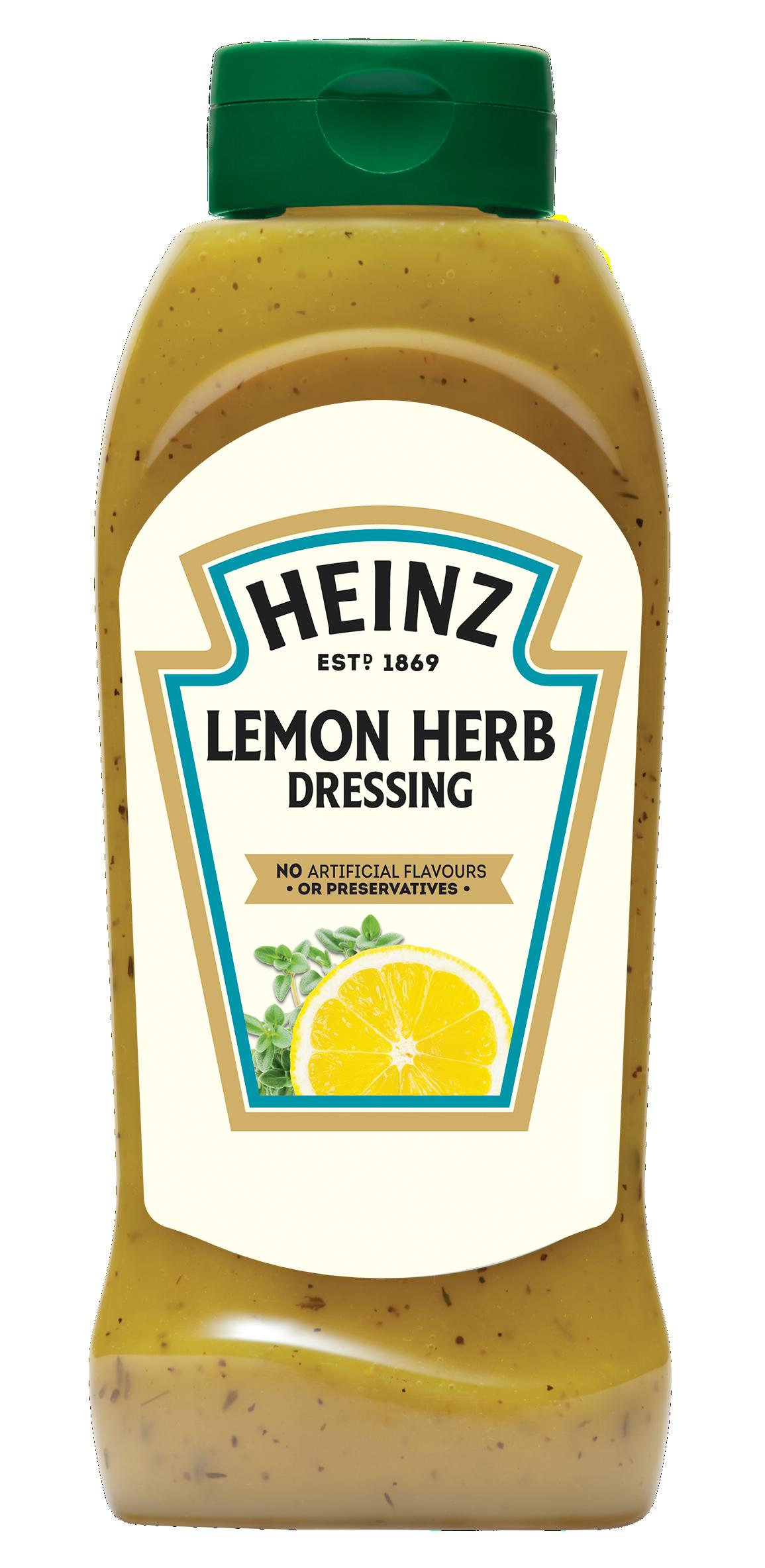 Heinz Lemon & Herb Dressing 800ml Up Right