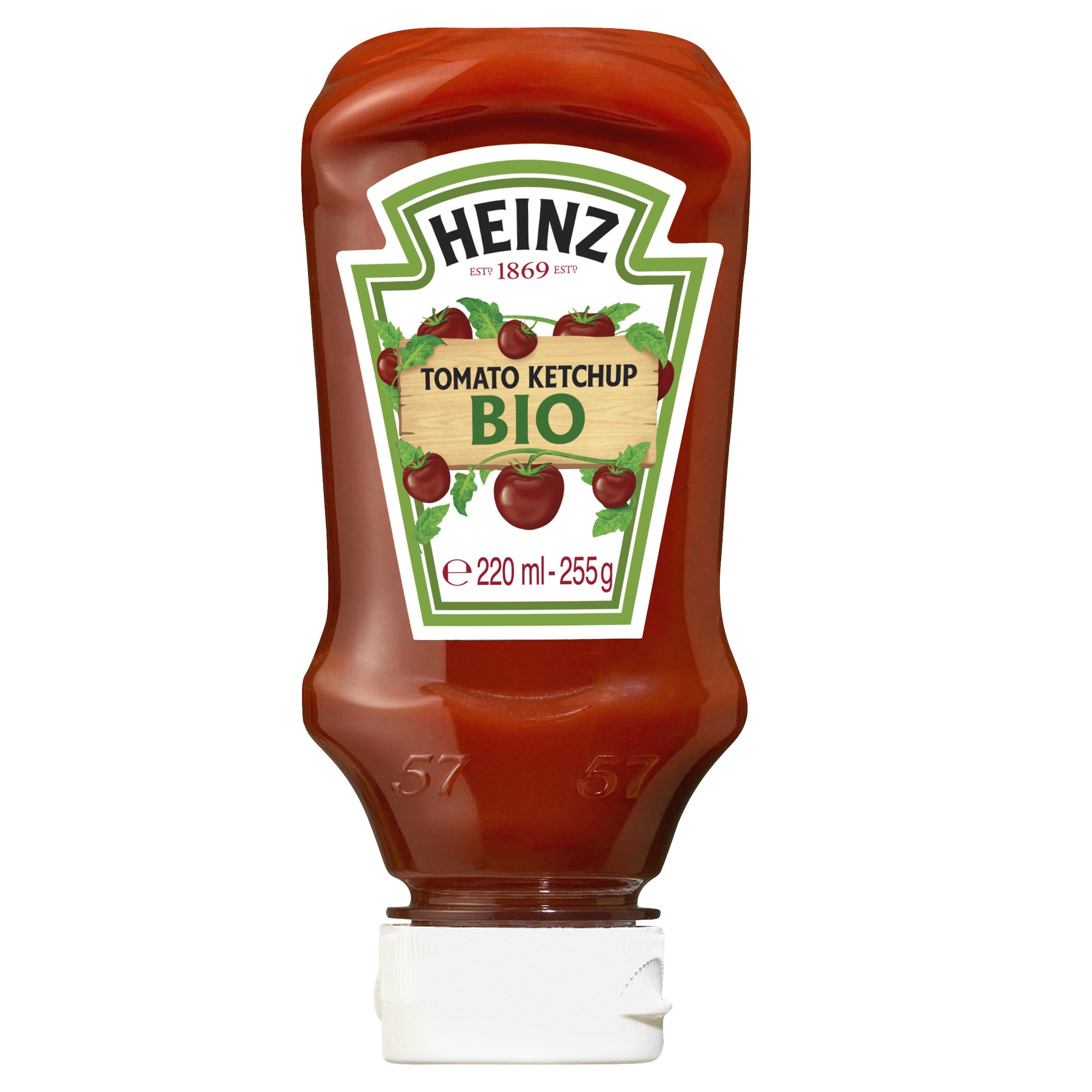 Heinz Tomato Ketchup Bio 220ml Top Down image