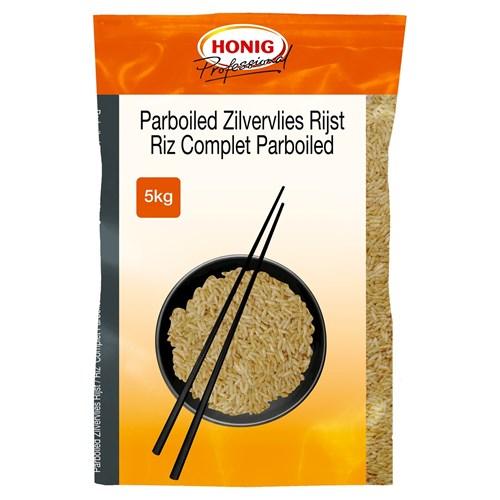 Honig Professional voorgekookte bruine rijst 5kg zak image