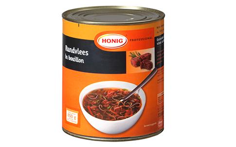 Honig Professional rundvlees voor soep 850g Blik image