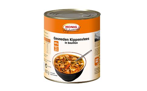 Honig Professional gesneden kip voor soep 850g Blik image