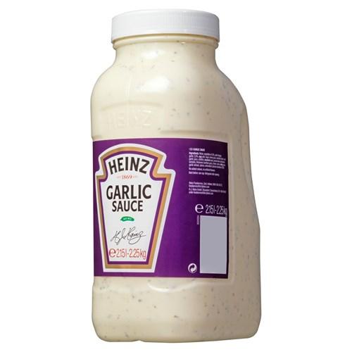 Heinz Knoflook saus 2.15L fles image