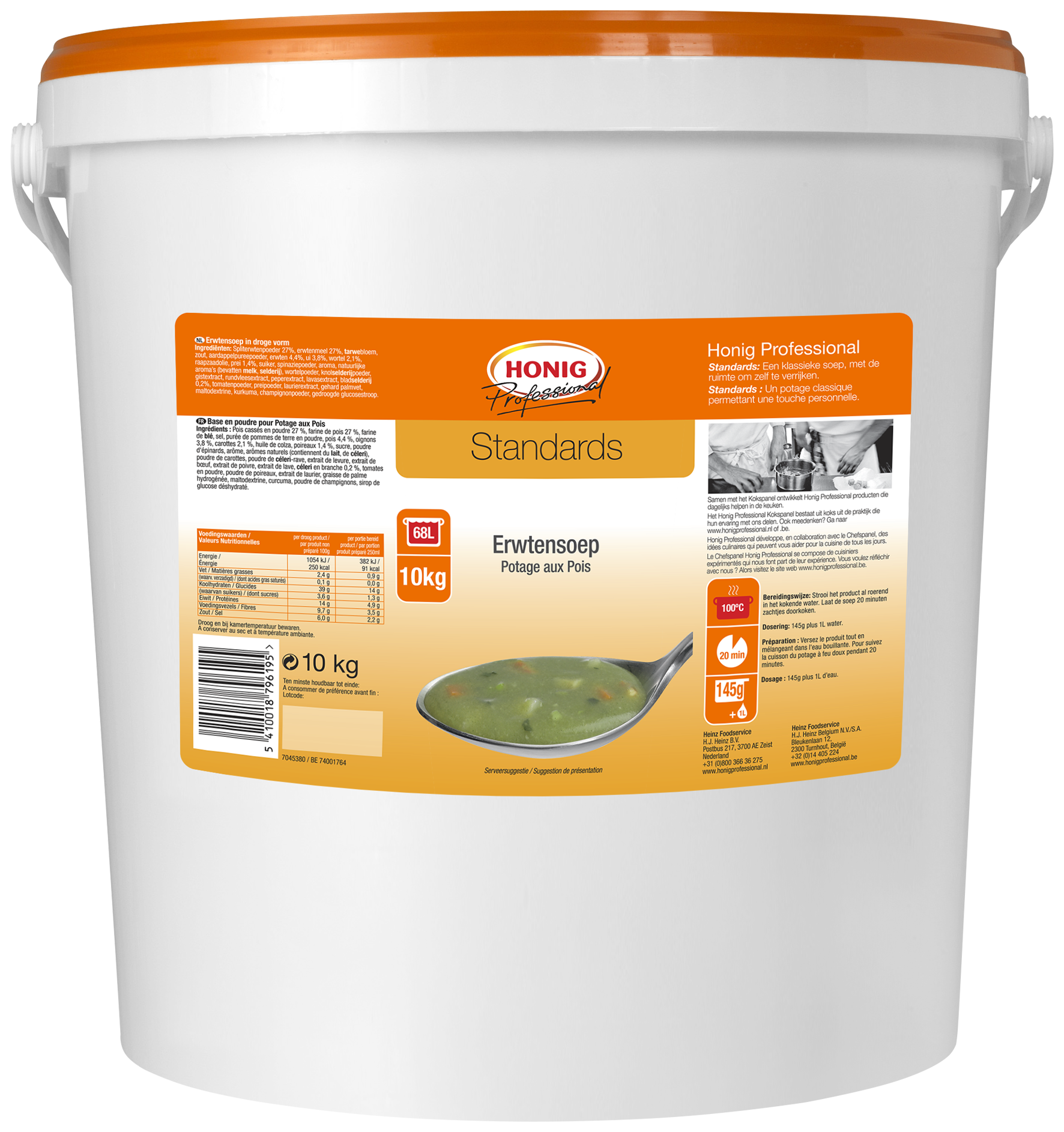 Honig For Professional Potage Aux Pois 10L image