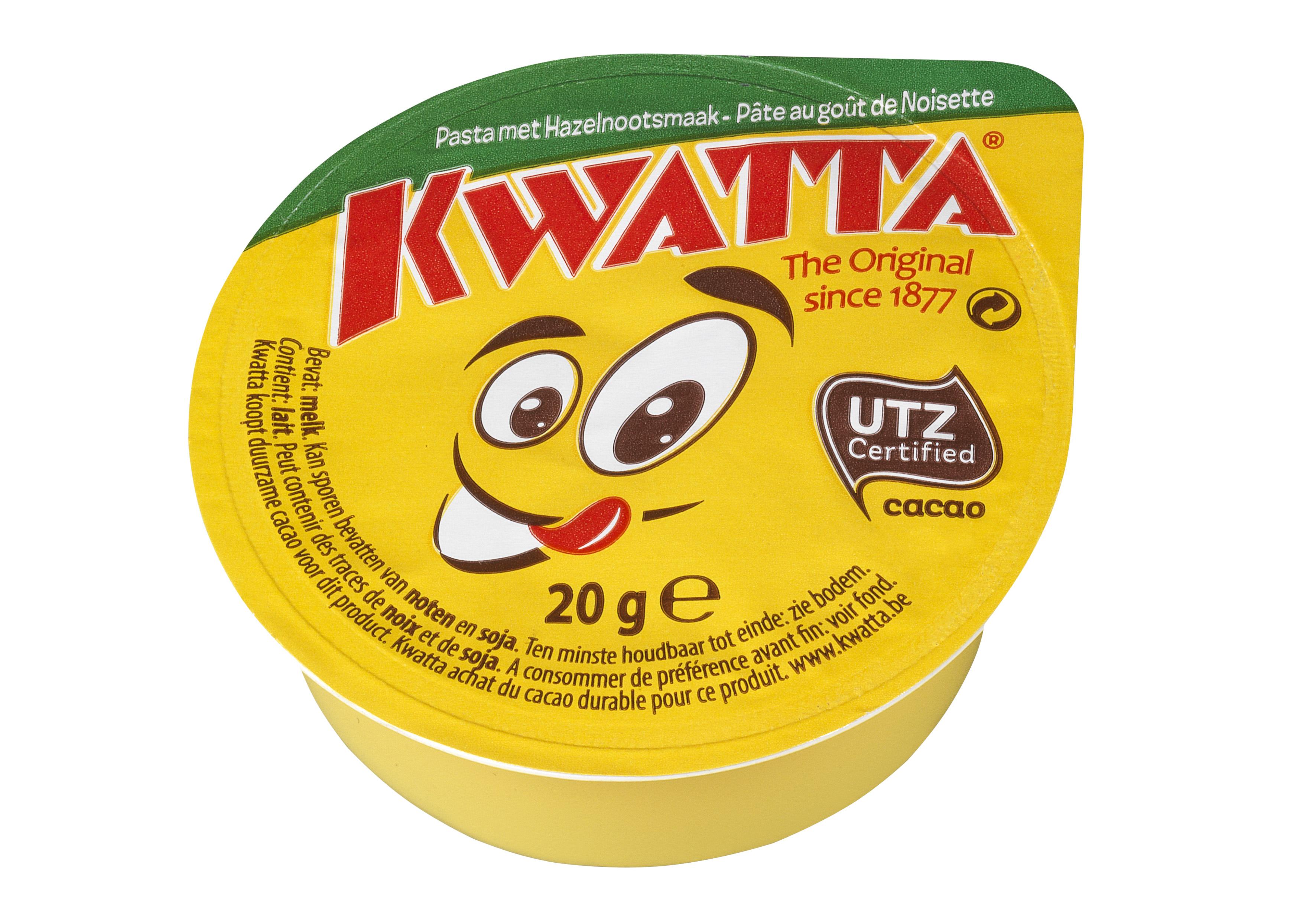Kwatta hazelnoot chocoladepasta 20ml doosje image