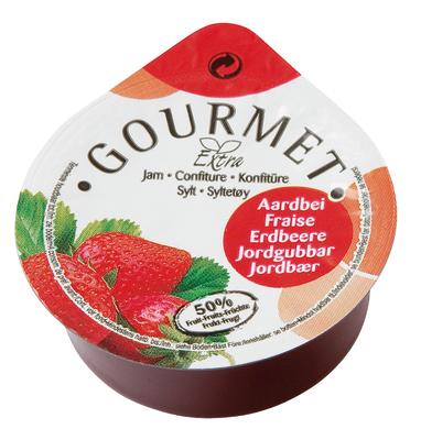 Gourmet aardbeien jam 25ml dippot image