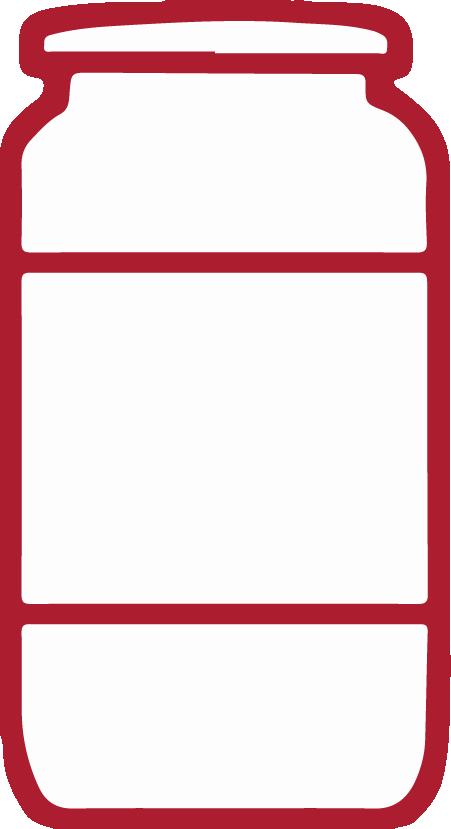 Szklany słoik banner