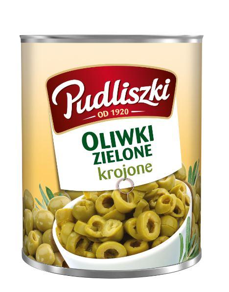 Oliwki zielone krojone Pudliszki 3kg puszka image
