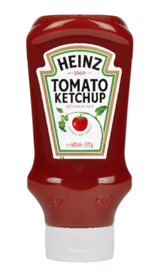 Heinz Tomato Ketchup 570gm Top Down image