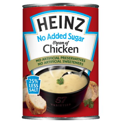 Heinz No Added Sugar Cream Chicken 400gm Small Can image