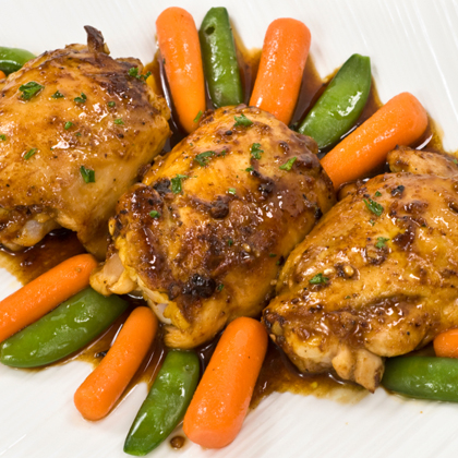 Roasted Sweet & Spicy Chicken Thighs