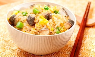 Fried Rice with Eel in Worcestershire Sauce image