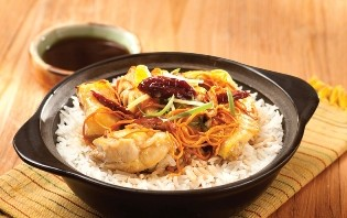 Cordyceps Flower and Chicken Claypot Rice