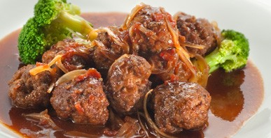 Herbs and Tomato Paste Beef Ball