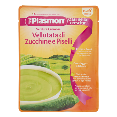 Plasmon's Courgette and Pea Purée