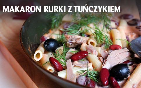 Makaron rurki z tuńczykiem