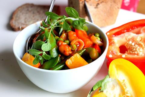 Letni gulasz warzywny