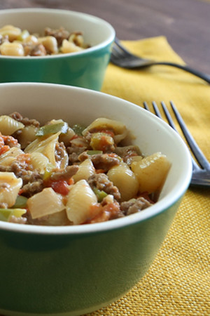Southwestern Beef Shells and Cheese