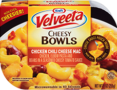 Velveeta Cheesy Bowls Chili Cheese Mac