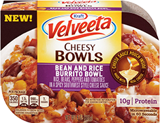 Velveeta Cheesy Bowls Bean and Rice Burrito Bowl