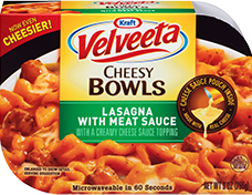 Velveeta Cheesy Bowls Lasagna with Meat Sauce