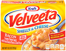 Velveeta Shells and Cheese Bacon
