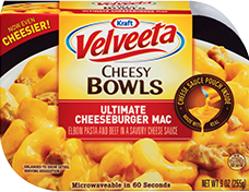 Velveeta Cheesy Bowls Ultimate Cheeseburger Mac