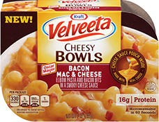 Velveeta Cheesy Bowls Bacon Mac and Cheese